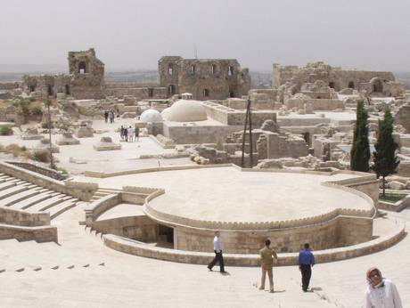 The modern theater for events and concerts in Aleppo.