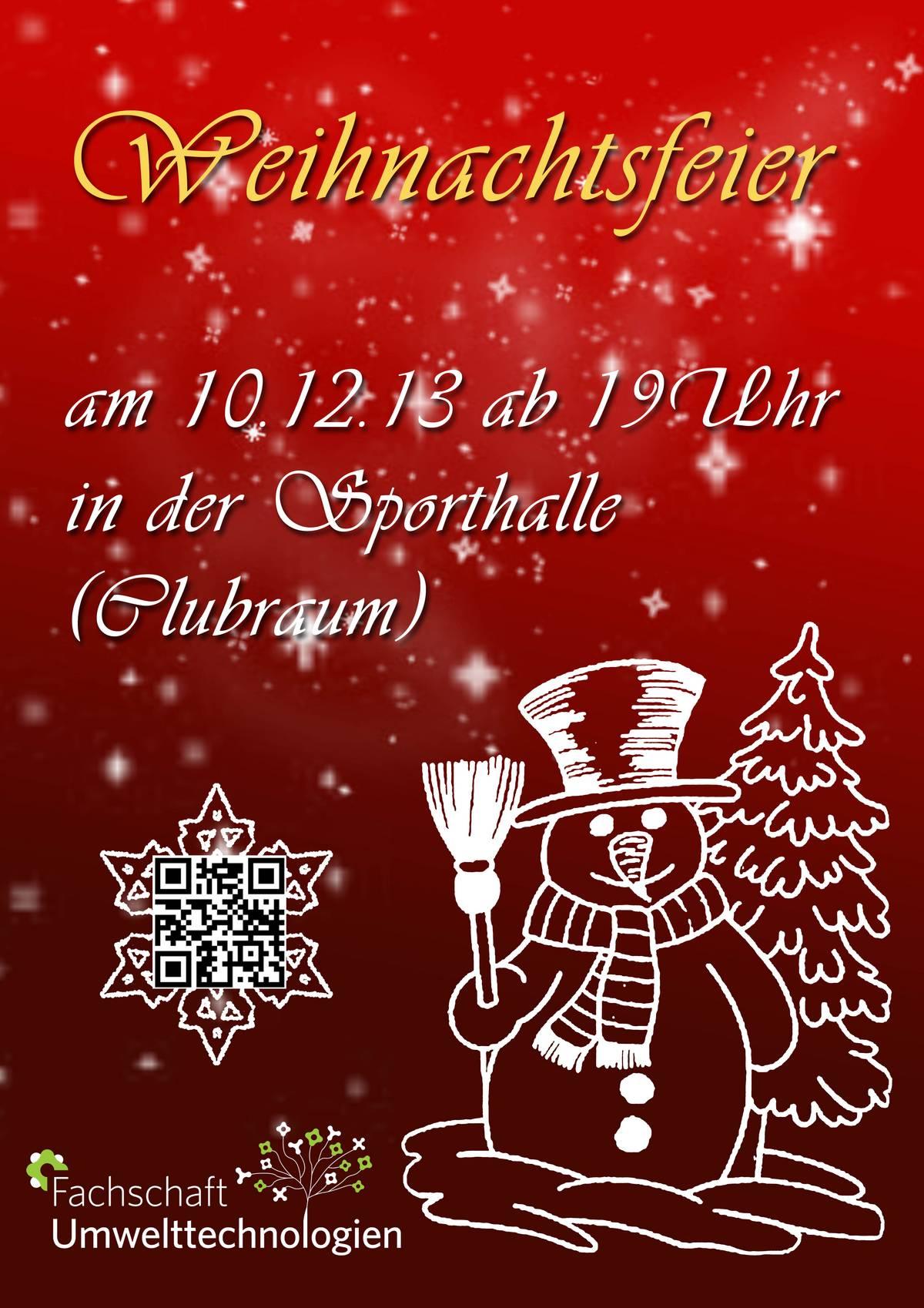 Weihnachtsfeier Plakat.Weihnachtsfeier B Tu De