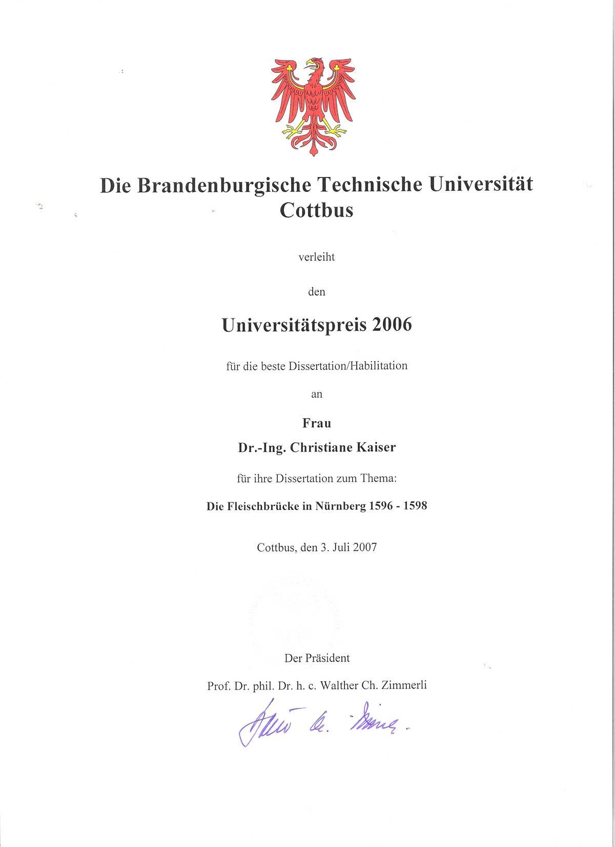 Dai preis dissertation