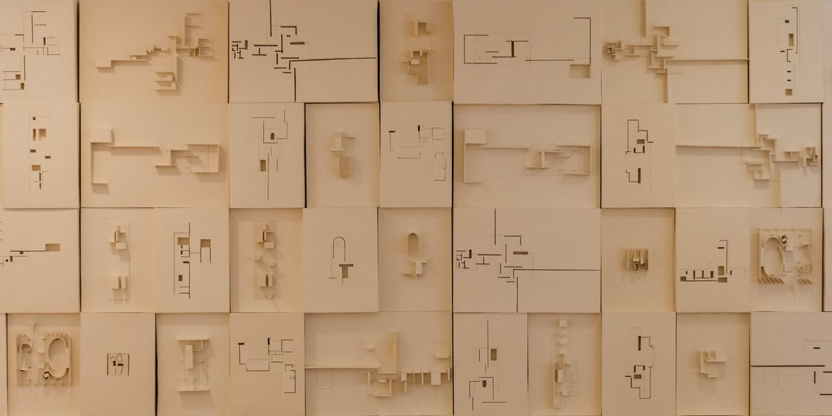Architecture models in top view