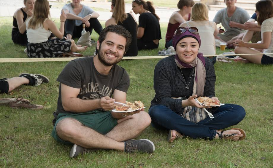 Foreign students at Campus Festival
