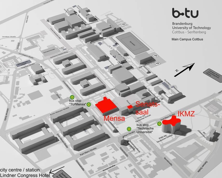 Campus map Forschungsplattform Hhnerwasser Research Platform