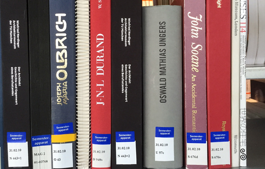 Selected book collections can be assigned to lectures at BTU Cottbus - Senftenberg upon request of the lecturer.